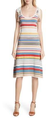 Veronica Beard Dulce Glitter Stripe Dress