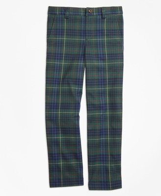 Brooks Brothers Boys Stewart Hunting Plaid Twill Pants
