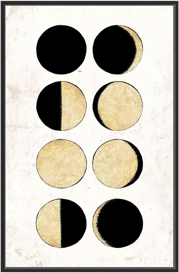 Jonathan Bass Studio Phases of the Moon (Framed Canvas)