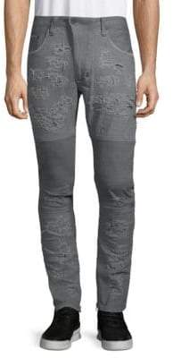 PRPS Windsor Skinny Distressed Moto Jeans