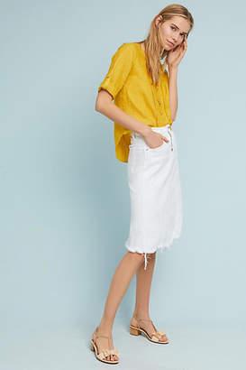 McGuire Carangi Distressed Denim Skirt