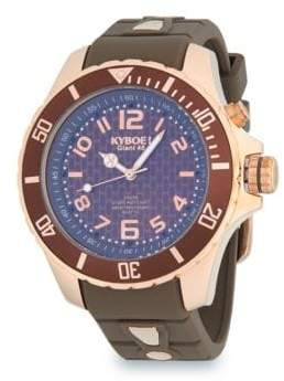 Stainless Steel and Silicone Strap Watch