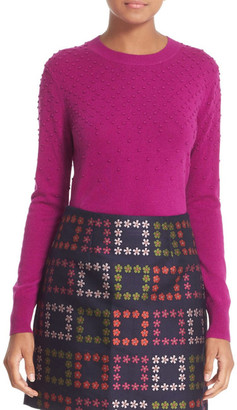 Ted Baker London &Sabrina& Bubble Stitch Crewneck Sweater $195 thestylecure.com