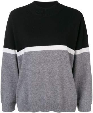 Sonia Rykiel two-tone knit jumper