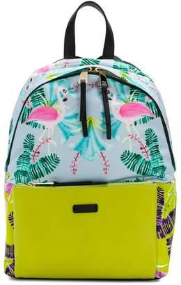 Furla Flamingo print backpack