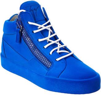 Giuseppe Zanotti Suede Mid-Top Sneaker
