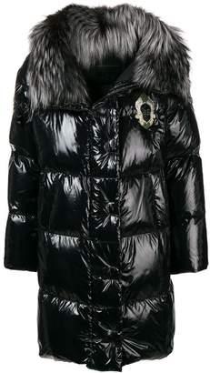 Ermanno Scervino embroidered puffer coat