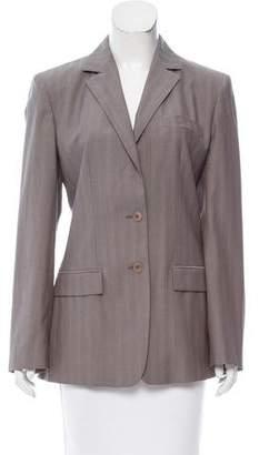 Calvin Klein Collection Wool Herringbone Blazer