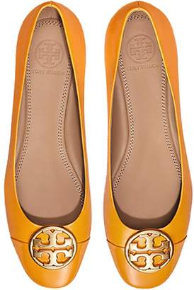 Tory Burch Goldenrod Nappa & Patent Leather Chelsea Cap-Toe Ballet Flats