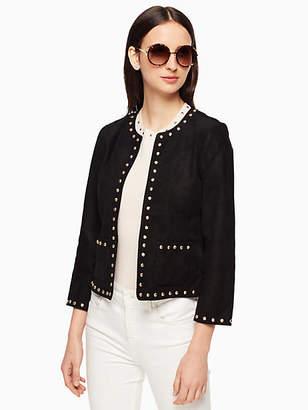 Kate Spade Studded suede jacket