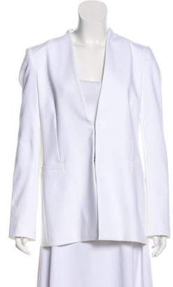 Alice + Olivia Collarless Cotton Blazer