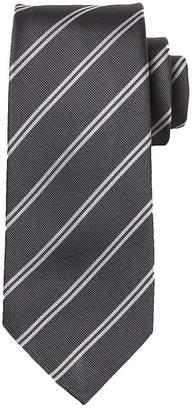 Banana Republic Double Stripe Silk Nanotex® Tie