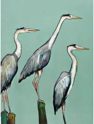 GreenBox Art 'Heron Focus' by Eli Halpin Painting Print on Wrapped Canvas