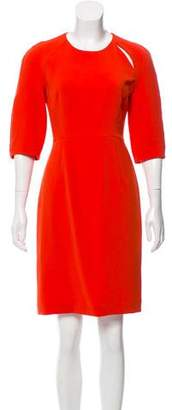 Tara Jarmon Three-Quarter Length Sleeve Knee-Length Dress