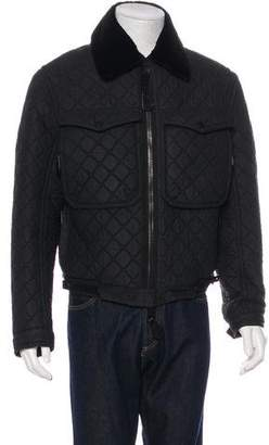 Burberry Mink-Trimmed Quilted Jacket