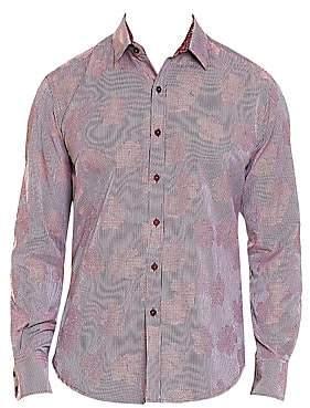 Robert Graham Men's Tomlinson Tonal Floral Button-Down Shirt
