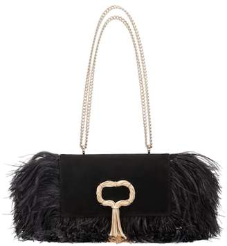 Roger Vivier Club Chain Feathers shoulder bag