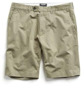 Todd Snyder Hudson Tab front Chino Short in Light Olive