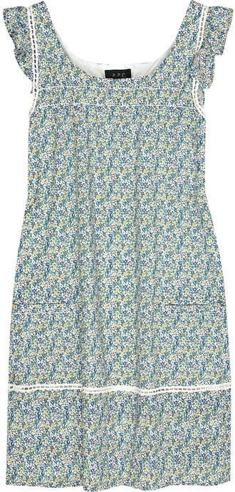 A.P.C. Liberty-print cotton A-line dress