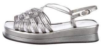 Stephane Kelian Metallic Leather Sandals