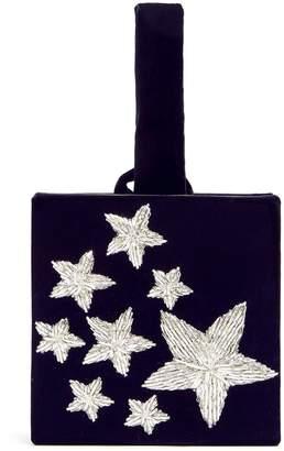 SANAYI 313 Stelle star-embroidered velvet box clutch