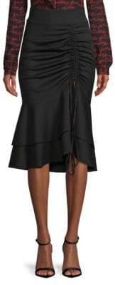 Milly Wool Drawstring Skirt