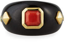 Margot McKinney Jewelry 18k Black Jade & Coral Ring, Size 6
