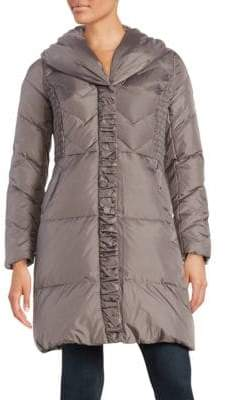 Via Spiga Pillow Collar Quilted Down Puffer Coat