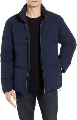 Theory Fulton 3 Regular Fit Seersucker Puffer Jacket