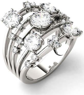 Charles & Colvard Moissanite Galaxy Fashion Ring (3-1/8 ct. t.w. Diamond Equivalent) in 14k White Gold