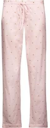 Bodas Metallic Polka-Dot Cotton-Jersey Pajama Pants
