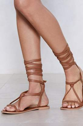 Nasty Gal Gather Around Leather Sandal