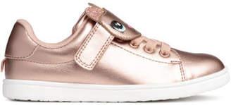 H&M Shimmery Metallic Sneakers - Brown