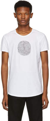 Ann Demeulemeester White Thumb Print T-Shirt