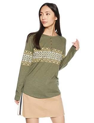 Billabong (ビラボン) - [ビラボン] [レディース] 長袖 Tシャツ (ヘンリーネック)[ AI014-055 / Design LS TEE ] ロンT かわいい OLV_オリーブ US M (日本サイズM相当)