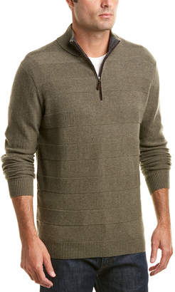 Forte Cashmere Textured Quarter-Zip Sweater
