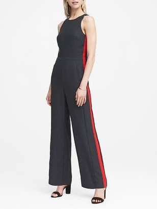 Banana Republic Petite Side-Stripe Jumpsuit