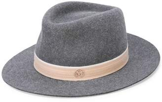 Maison Michel ribbon detail bowler hat