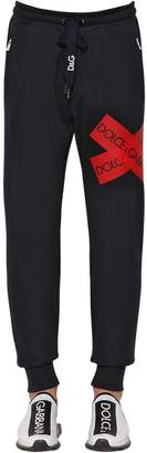 Dolce & Gabbana Jersey Track Pants W/ Logo Tape