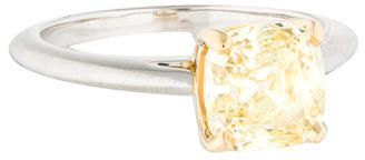 Tiffany & Co. 2.12 ct Yellow Diamond Engagement Ring $35,495 thestylecure.com