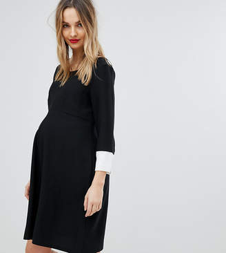 Isabella Oliver Shift Dress With Fluted Sleeve