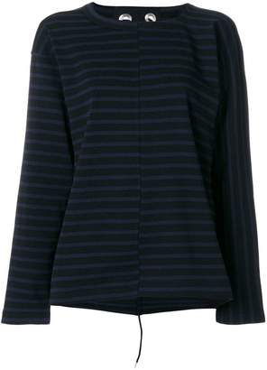 Sacai laced detail striped top