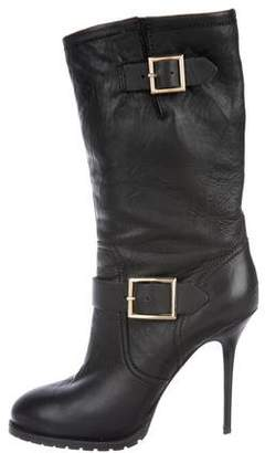 Jimmy Choo Leather High-Heel Boots