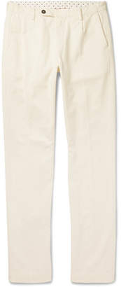 Massimo Alba Slim-Fit Tapered Pleated Cotton and Cashmere-Blend Trousers