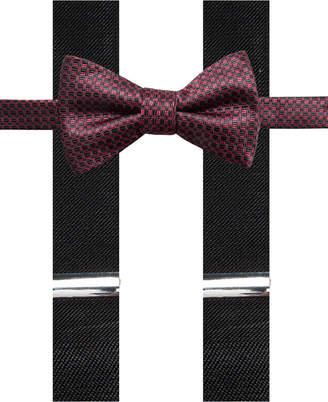 Alfani Men's Neat Pre-Tied Bow Tie & Suspender Set