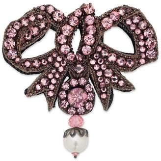Gucci Crystal bow brooch