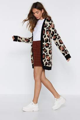 Nasty Gal Not a Knitter Leopard Cardigan