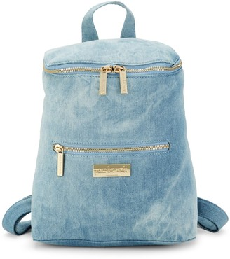 Peace Love World Top Zip Denim Backpack