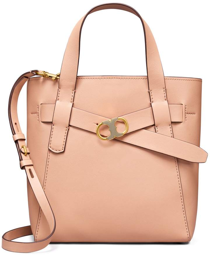 Tory Burch GEMINI LINK LEATHER SMALL TOTE - PERFECT SAND - STYLE