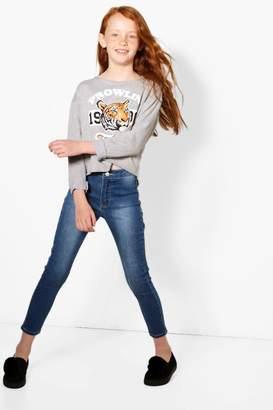 boohoo Girls High Rise Skinny Tube Jeans